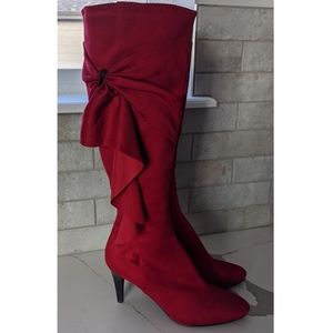 IMPO Stretch Red Boots Size 7M Padded Leg